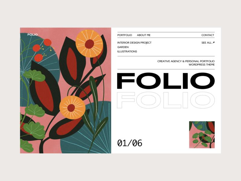 folio branding web typography blog colors illustration design interface ui