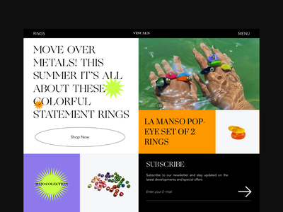 rings shop typography blog colors web interface design ui