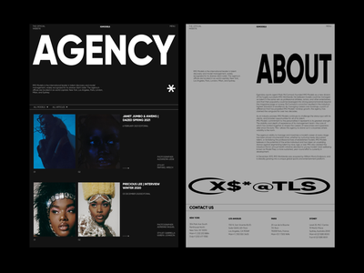 AGENCY agency branding typography blog web interface design ui