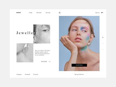 Bijoux fashion web ui shopping store jewellery