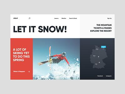 Skiing ski resort mountain snowboard skiing web ui