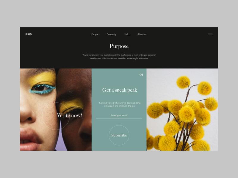 Blog design photography blog ui web