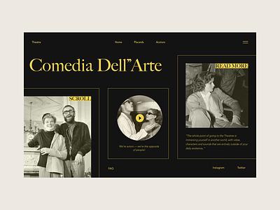 Theatre movie theatre interface design photography blog web ui