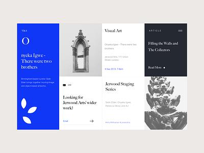 Visual Art webdesign landing gallery art museum art interface photography blog web ui