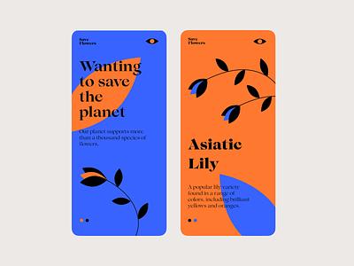 Save Flowers flowers app design app vector illustration interface design web ui