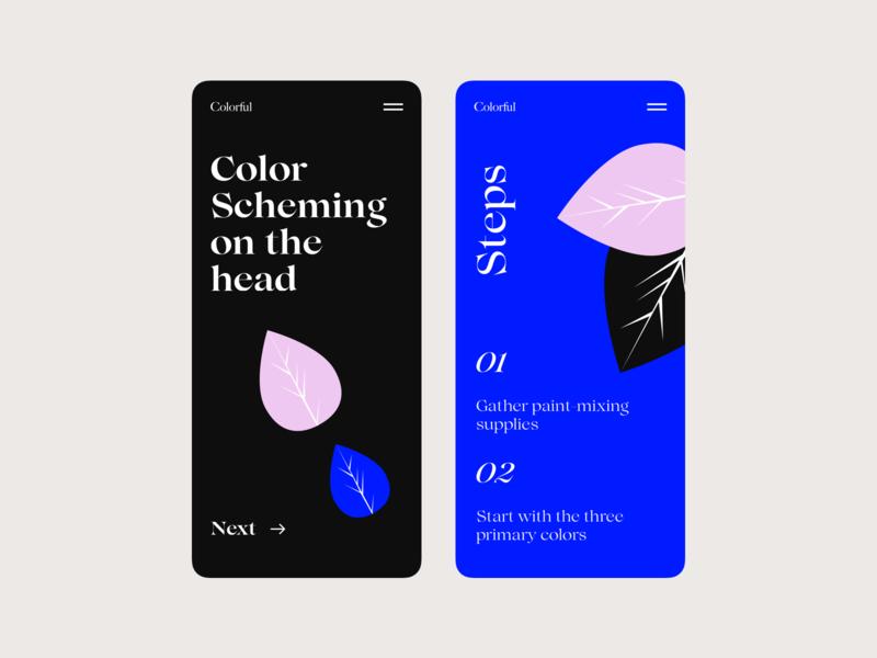 Colorful ux app design illustration vector interface design ui