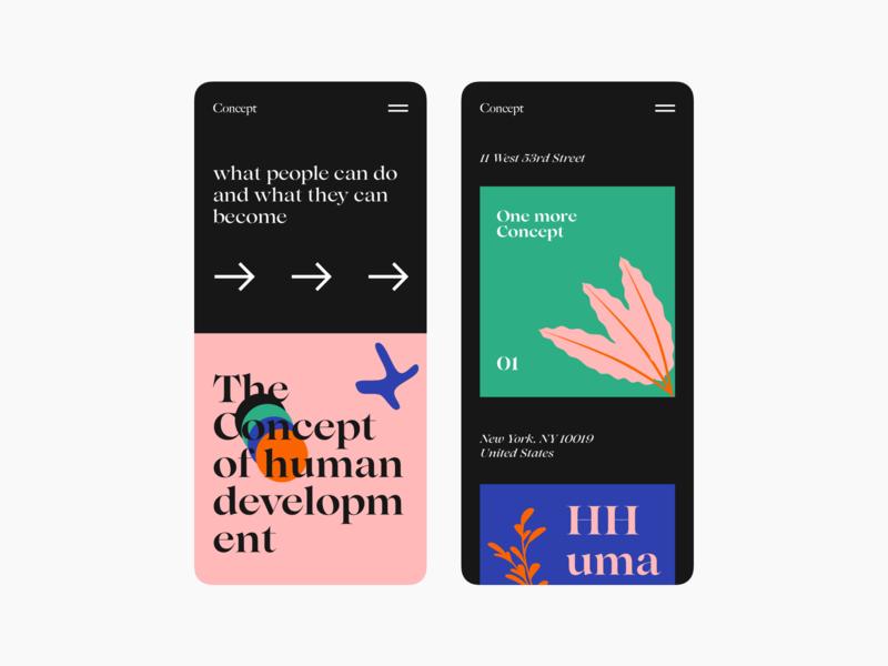 Concept typogaphy colors branding responsive design illustration interface design ui
