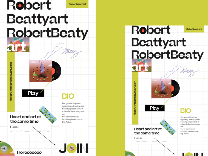 Robert Beaty webdesign music branding web interface design ui
