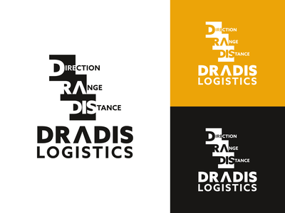 DRADIS LOGISICS logo typography food logo website graphic design ui ux minimalist business logo branding