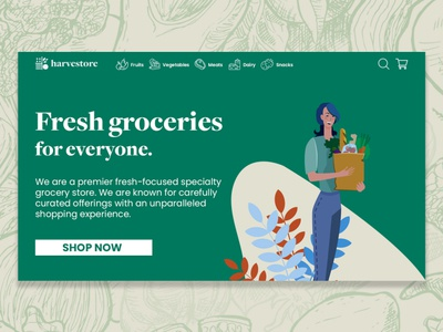 Harvestore — Homepage Design
