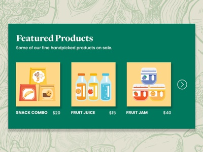 Harvestore — Featured Products Design