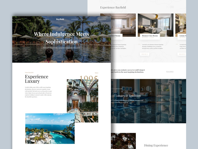 Bayfield - Hotel Website Design