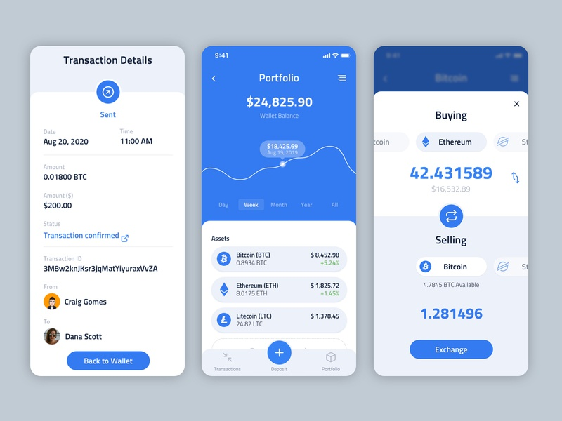 CryptoNet app ui ux web branding design