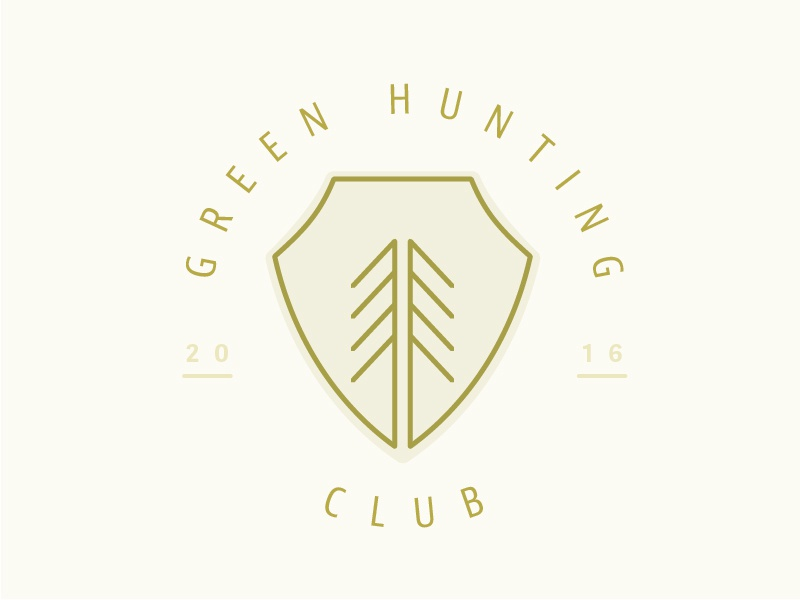 Green Hunting Club Alt Mark 3 - Patch tree logo patch