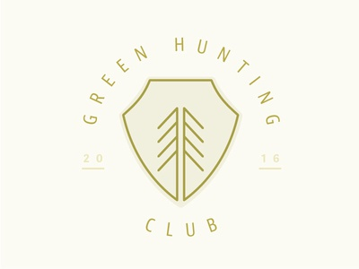 Green Hunting Club Alt Mark 3 - Patch tree logo patch