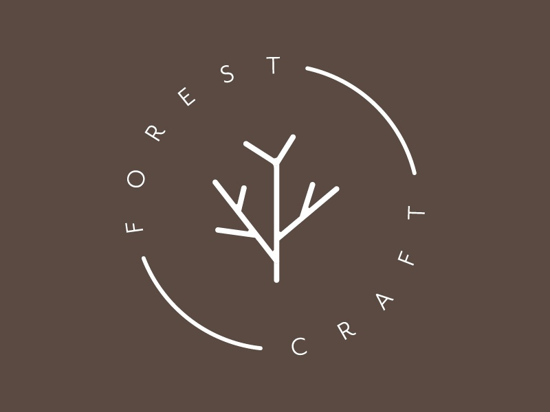 Forest craft stamp iteration rustic seal logo tree stamp