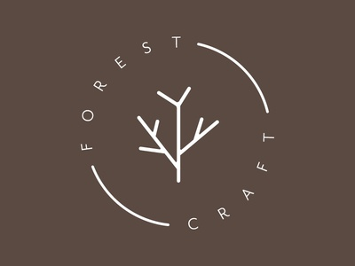Forest craft stamp iteration