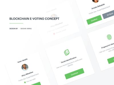 Blockchain E-voting Concept