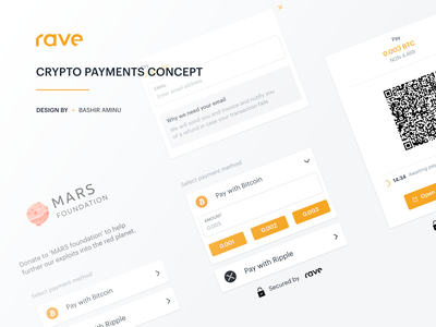 Rave by Flutterwave - Crypto Payments Concept web design ux ui banking finance design cryptocurrency