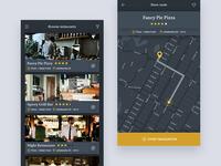 Foodmonkey Mobile App Template download free map app mobie restaurant design ux ui