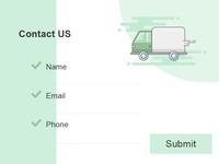 dailyui #028 Contact Us