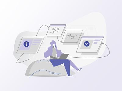 Checking facts. flat web branding vector illustration design