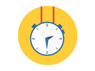 Running App Illustration illustration stopwatch