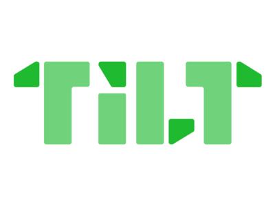 Tilt Wordmark logo branding startup tech