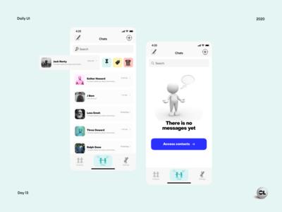 Direct messeging - Daily UI #013 webdesign ux ui design