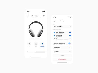 AirPods Max - Control App app aoo uidesign max airpods max airpods apple ui