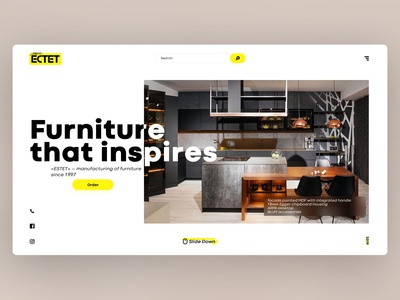 Furniture Company Website's design