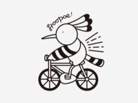 Hoopoe On Bike !