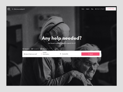 Any Help webapplication help volunteer caregivers coronavirus covid19 creative webapp webdesign design ux ui
