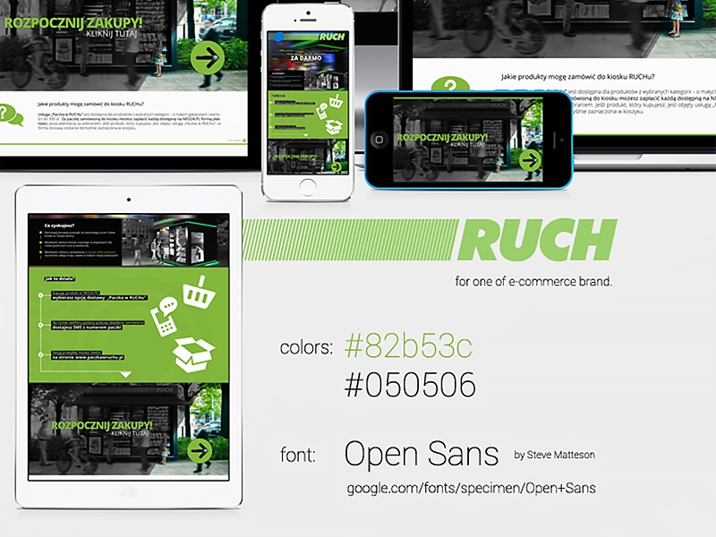 Delivery Feature - Ruch ui ux design rwd e-commerce ecommerce web design webdesign art direction creative