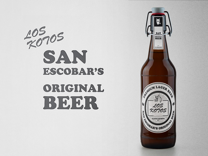 Los Kotos - San Escobar's Original Beer design creative identity los kotos santo subito san escobar packaging design beer