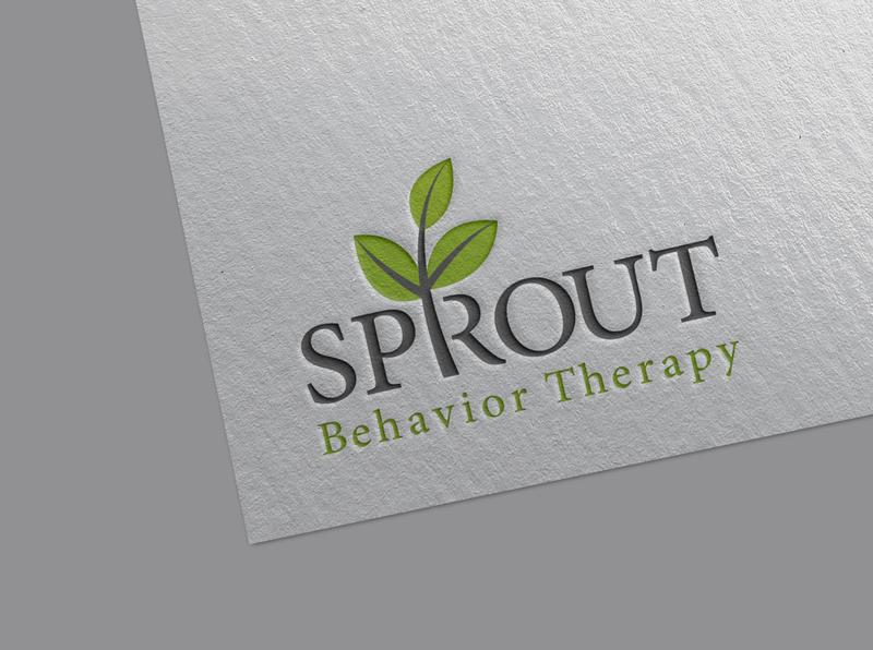SPROUT r plant herbal typography minimlist creative logo vector branding unique type flat modern minimalist logo