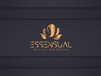 Essensual lady fashion typography minimlist creative logo vector branding modern flat unique type minimalist logo