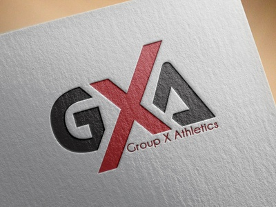GXA LOGO. minimlist modern flat creative logo vector branding unique type minimalist logo