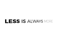 Less Is Always More2