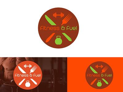 Fitness & Fuel fitness  fuel fuel fitness logo design typography minimlist creative logo vector branding unique type modern flat minimalist logo