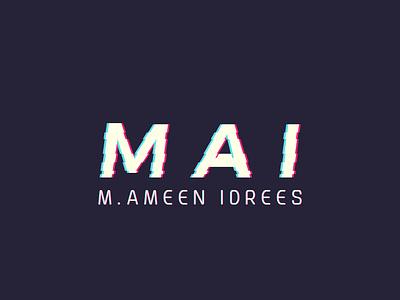M A I minimlist creative logo type flat vector branding unique modern minimalist logo