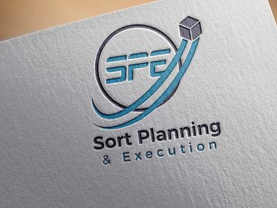 SPE delivery clean design typography logo vector branding unique type modern flat minimalist logo
