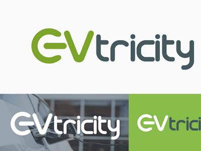 EVtricity minimalist logo electric