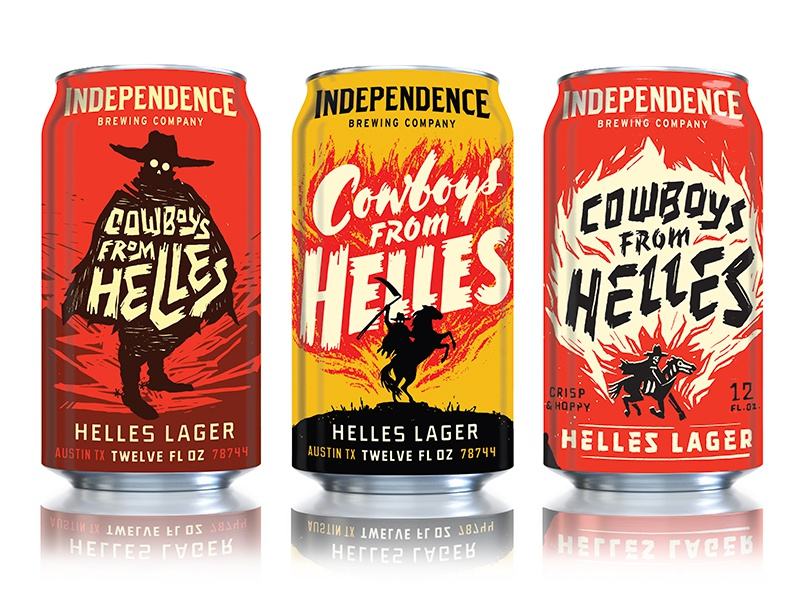Gauchos drink can texture texas packaging typography illustration beer
