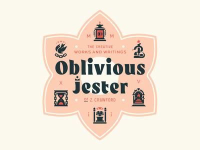Oblivious philosophy snake symbolism flower graphic design texas logo branding illustration musician author
