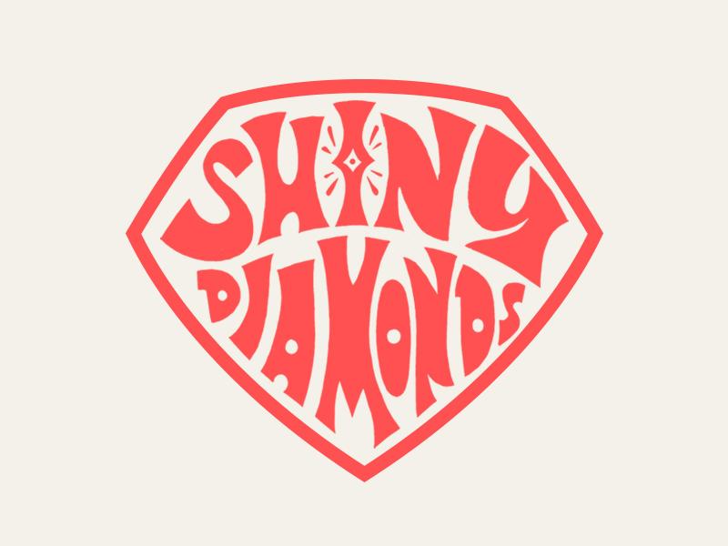Diamonds texas logo texture illustration logotype packaging branding typography