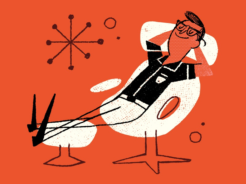 Weekend Mood vibes 1950 eames illustration