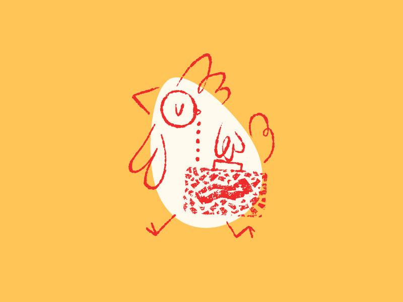 Eggs & Bacon sellout branding bacon chicken eggs illustration