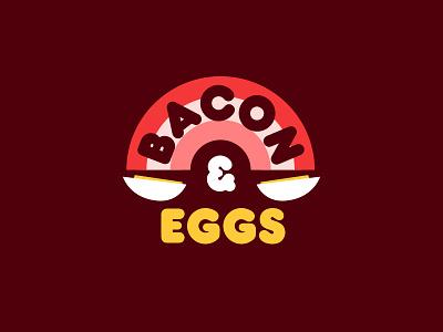 Eggs are neat. rainbow egg bacon
