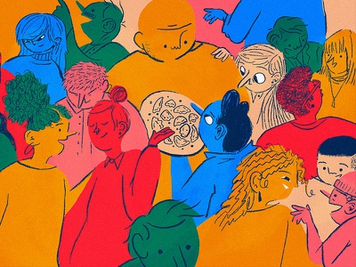 Celebrating our Diversity diversity color illustration